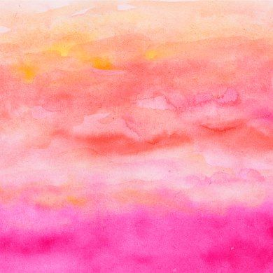 Modern Pink Orange Sunset Watercolor Wash Wrapping Paper Zazzle