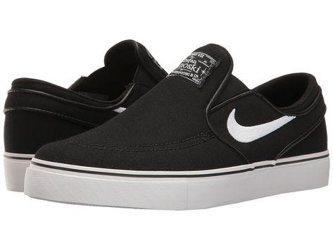best sneakers 3e3a3 497e2 Nike SB Kids Stefan Janoski Canvas Slip GS (Big Kid) (BlackWhite) Kids  Shoes
