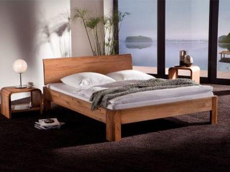 Massivholzbetten modern  Massivholzbetten | Schlafzimmer | Pinterest