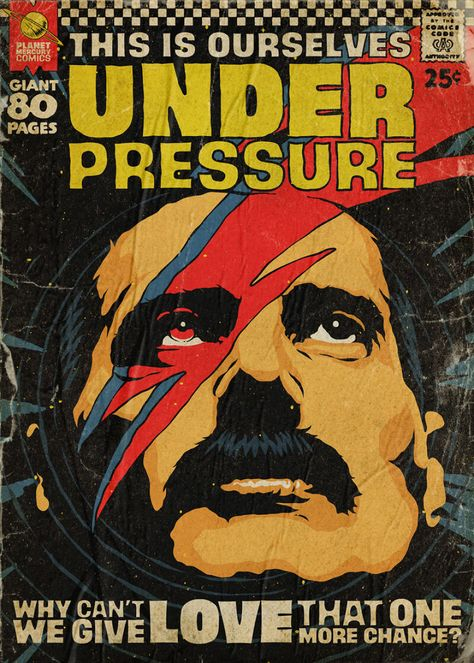 Queen Songs Turned Into Vintage Comic Book Covers By Butcher Billy