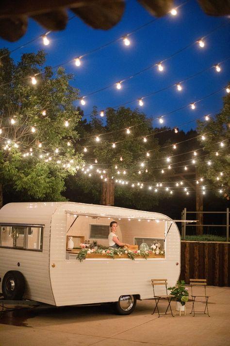 Gallery - A Rustic Ranch Wedding With A Fun Modern Vibe Foodtrucks Ideas, Mobile Coffee Shop, Food Truck Design, Food Trailer, Wedding Catering, Food Truck Wedding, Plein Air, Unique Weddings, Glamping