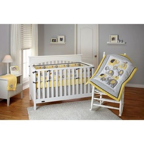 Little Bedding By Nojo Elephant Time 4 Pc Crib Set Yellow Sleep Bed