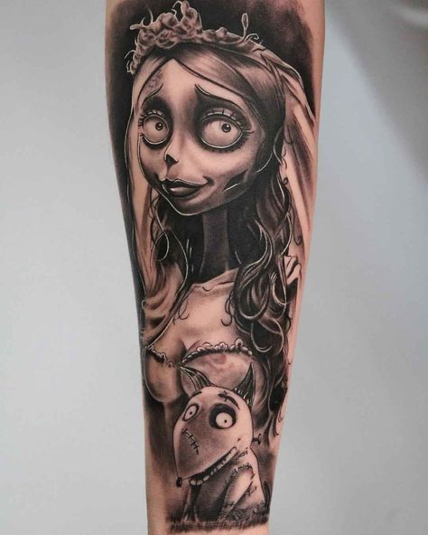 Fascinating Tim Burton Tattoos Tattoodo - It Is Simply Undeniable That Tim Burton Is A Creative Genius His Speciality Is Taking The Most Fantastical Ideas And Somehow Translating Them Onto The Screen Whether We Are Talking About The Rube Go #bridetattoo
