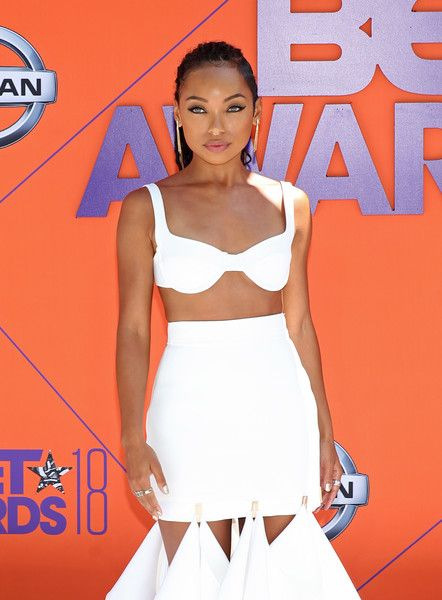 Logan Browning attends the 2018 BET Awards at Microsoft Theater.