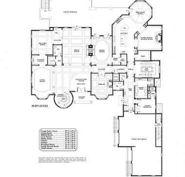 Nice 9 Branded Mansion Floor Plans For Sale That You Must See