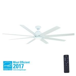 Home Decorators Collection Kensgrove 72 In Led Indoor Outdoor White Ceiling Fan With Light Kit And Remote Control Yg493od Wh The Home Depot Ceiling Fan With Light White Ceiling Fan Ceiling Fan