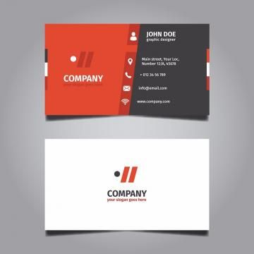 Red Useful Business Card Vector Business Card Corporate Business Card Business Cards Creative