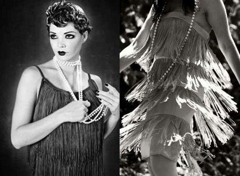 Vuelve a la moda el estilo años 20: fotos de los looks - Festido con flecos charleston