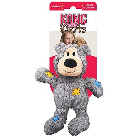 Kong Wild Knots Bear Internal Knotted Ropes And Minimal Stuffing For Less Mess For X Large
