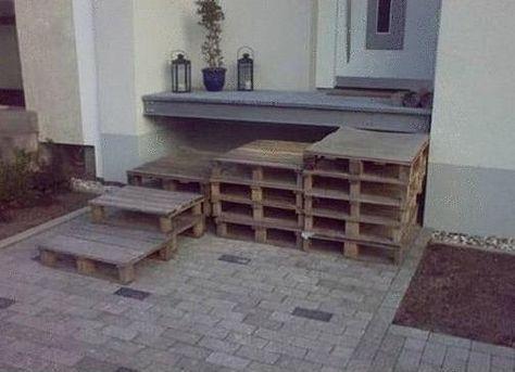 Treppe Aus Alten Paletten (504×365) | BuildYour: Second Floor |  Pinterest | Gärten