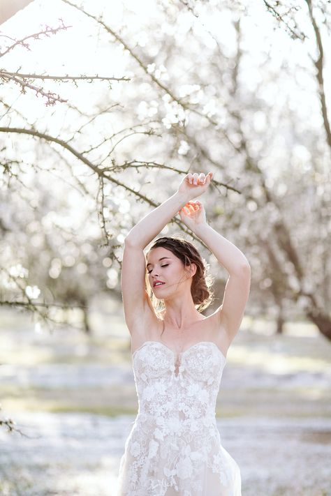 Whimsical Almond Orchard Blossom Wedding Inspiration – Playful Soul Photography 16  Blossoming orchards are the perfect backdrop for a nature-filled outdoor celebration.  #bridalmusings #bmloves #wedding #weddinginspo #weddinginspiration #blossom #orchard #outdoorwedding