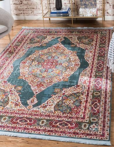 New A2z Rug Turquoise 10 X 13 Feet St Tropez Collection Traditional And Modern Area Rugs And Carpet Home Decor Turquoise Rug Modern Area Rugs Carpets Online