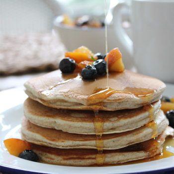 Greek Yogurt Pancakes Barefoot Contessa In 2020 Yogurt Pancakes Greek Yogurt Pancakes One Pancake Recipe