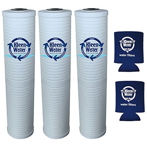 AP811-2 by KleenWater 5 Micron DGD-5005 Compatible Water Filter Muli-Pack 2 3 4.5 x 20 Inch AP810-2 DGD-5005-20 with Genuine KleenWater Can Holders