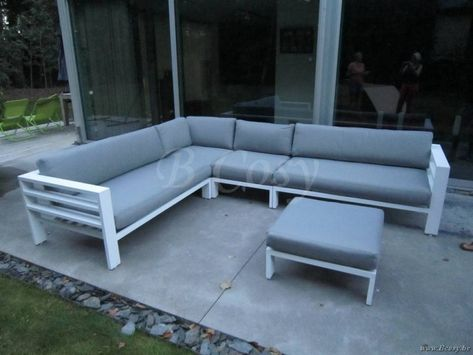 Gescova Cadiz Modular Set Alu Modulaire Wit Aluminium Lounge Set 245x245 Ca Leon Salons De Detente Jardin Garden Outdoor Lounge Sets Cadiz Lounge Buitentuinen