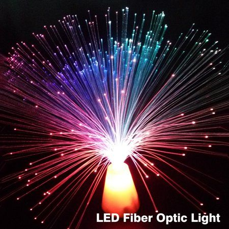 Multicolor Led Fiber Optic Lamp Light Luminous Wedding Christmas Star Party Home Decor Gift Walmart Com Ocean Night Lights Crystal Lamp Jellyfish Lamp