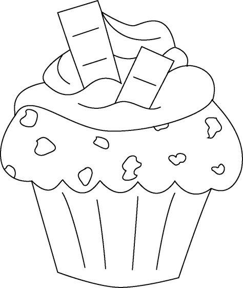 Dibujos De Cupcakes Para Colorear Buscar Con Google