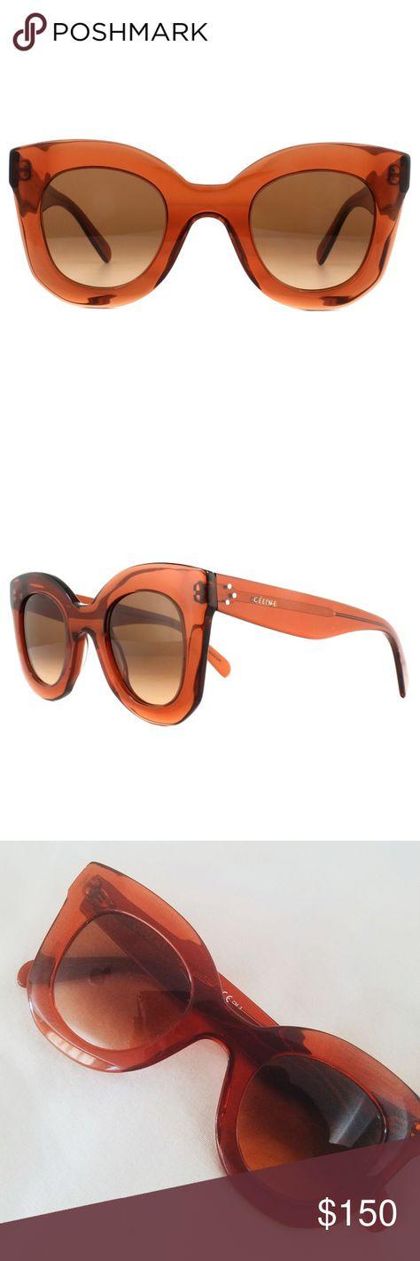 f089d99131 CELINE Baby Marta Sunglasses Dark Orange Amber Celine Baby Marta CL 41393 S  Sunglasses in