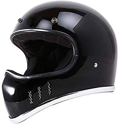 Amazon Com Vintage Style Full Face Helmet Dot Motorcycle Adventure Touring Bobber Black Large Automotive Helmet Adventure Motorcycling Full Face Helmets