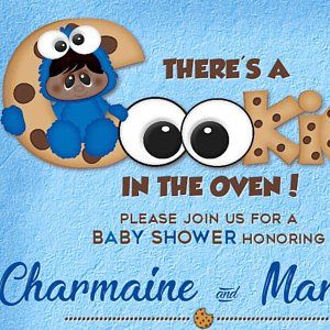 Cookie Monster Baby Shower Invitation There Is A Cookie In Etsy Monster Baby Showers Monster Baby Shower Invitations Monster Cookies