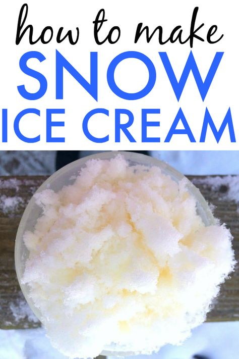 How to Make Snow Cream Recipe : Easy, Old-fashioned, Homemade, Snow Ice Cream recipe without or with condensed milk (and great for small batches, too! Homemade Snow Ice Cream Recipe, Snow Icecream Recipe, Snow Recipe, How To Make Snow Ice Cream Recipe, Snow Cream Recipe Condensed Milk, Ice Cream Recipes, Snow Cream Recipe With Milk, Recipes With Milk, Make Ice Cream