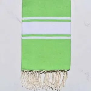 Flat Light Green Turkish Fouta Towel In 2020 Beach Towel Diy