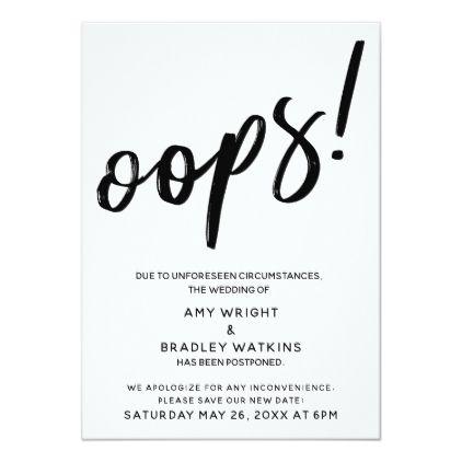 Postponed Wedding Humorous