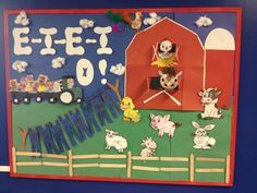 Farm themed bulletin board
