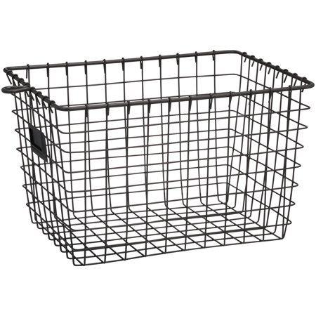 Industrial Gray Small Spectrum Diversified Wire Storage Basket