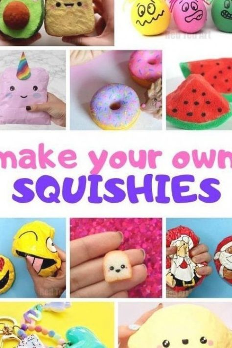How to make Homemade Squishies that are Slow Rising  Learn how to make a Squshie with paper  with foam  without foam  above all Easy Squishie DIY  #Squishie #squishies #howto