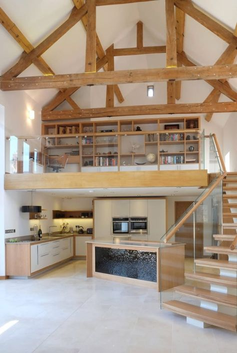8 Converted Barn Homes You'll Want to Live In - COWGIRL Magazine Bright-and-spacious-converted-old-barn<br> Would you love to live in an old barn? These days it's a trendy thing. Check out 8 converted barn homes that will make you want to move on in. Metal Barn Homes, Metal Building Homes, Pole Barn Homes, Building A House, Pole Barns, Converted Barn Homes, Barn Conversion Interiors, Barn House Conversion, Barn Renovation