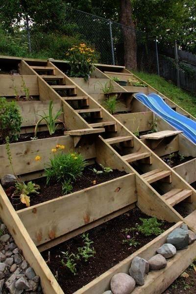 Raised Garden Bed Designs Australia, How To Build Raised Garden Bed On Slope