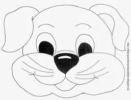 Resultado De Imagen Para Perro Animado Para Colorear Faciles
