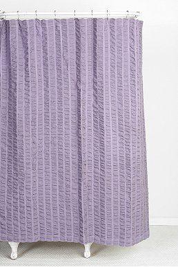 Seersucker Shower Curtain Lavender Shower Curtain Curtains Shower Curtain Hooks