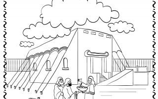 Building The Tabernacle Coloring Pages The Tabernacle Coloring Pages For Boys Tabernacle