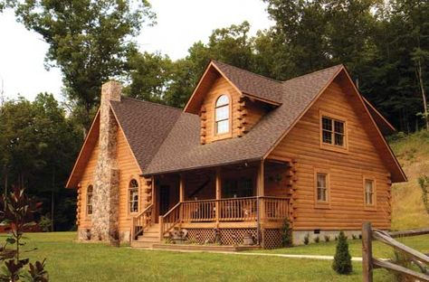 63 Favourite Small Log Cabin Homes Design Ideas - Home/Decor/Diy/Design Log Cabin Living, Small Log Cabin, Log Cabin Homes, Log Cabins, Cabin Loft, Small Cabins, Mountain Cabins, Small Log Homes, Log Home Plans