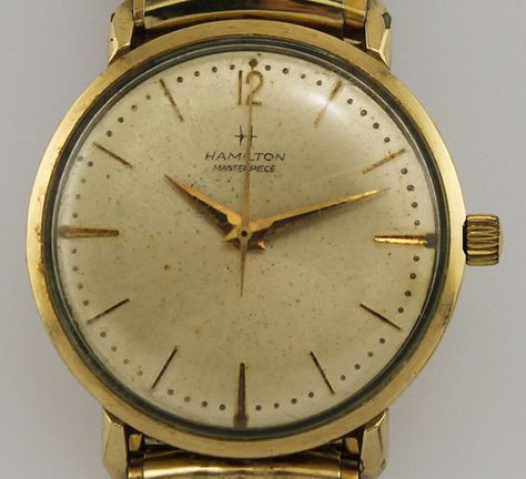 Vintage Hamilton Masterpiece Manual Wind Presentation Wrist Watch