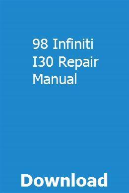 98 Infiniti I30 Repair Manual Repair Manuals Chilton Repair Manual Truck Repair