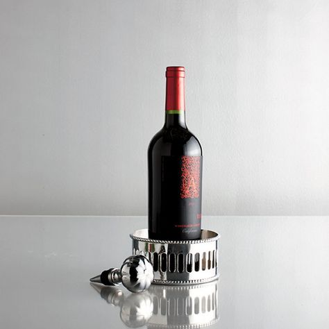 Wine Coaster & Wine Stopper Set - an elegant presentation for your favorite vintage.