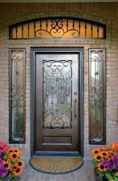 Iron Front Doors Houston Door Gate Design Wrought Iron Front
