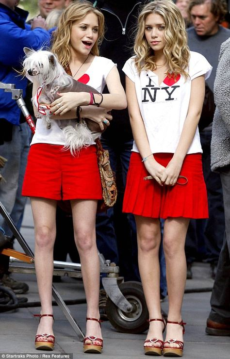 Were they birthday presents? Mary-Kate and Ashley Olsen step out in matching sandals as they turn 27 New York Minute – 2003