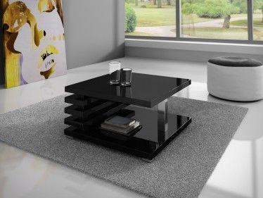 Zwarte Hoogglans Bijzettafel.Salontafel Koya Hoogglans Zwart Modern Stoer Design