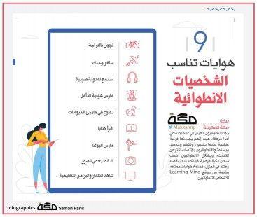 انفوجرافيك 10 هوايات تناسب الشخصيات الانطوائية انفوجرافيك A Class New Things To Learn Learn Arabic Language Downloadable Resume Template