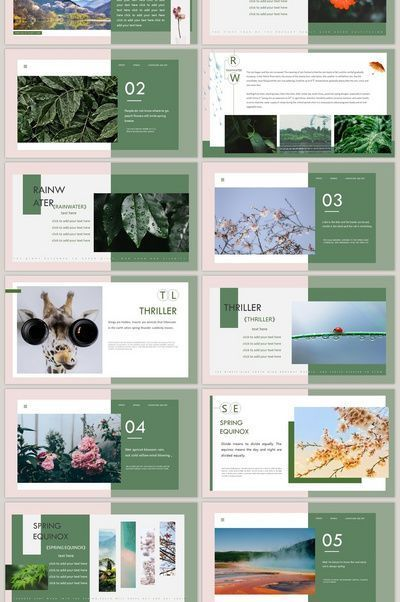 Dark Green Spring Came The Art Brochure Style Ppt Template Free Download Pi Portfolio Design Layout Presentation Design Layout Powerpoint Presentation Design