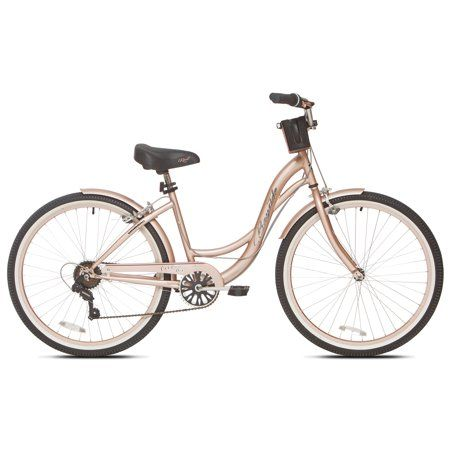 Kent 26 Bayside Women S Cruiser Bike Rose Gold Walmart Com Bicycle Cruiser Bike Cool Bike Accessories