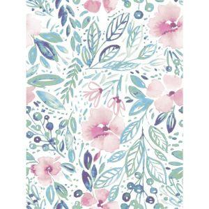 Psw1010rl Magnolia Home Vol Ii Floral Pink Peel And Stick Wallpaper Watercolor Rose Wallpaper Rose Wallpaper