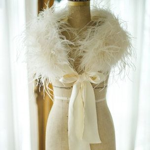 cafda75ab822 Ostrich Feather Shrug/ vintage Shrug/ Bridal by HoneyMCouture ...