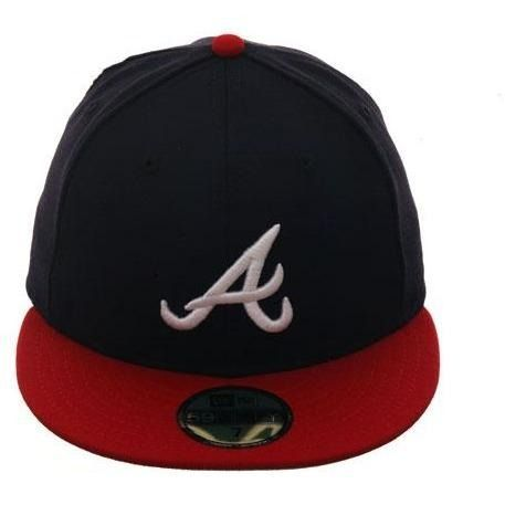17432c5775251 Exclusive New Era 59Fifty Atlanta Braves Home w  Gray Undervisor Hat - 2T  Navy
