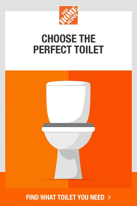 Discover the information you need to select the right toilet for your home. The Home Depot's toilet guide helps you decide if you need to prioritize saving space, flushing power or water efficiency. Tap to choose the best toilet for your needs with this toilet-buying guide from The Home Depot.