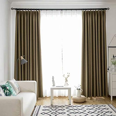Leadtimes Solid Linen Grommet Top Curtains 102 Inch Length Thermal